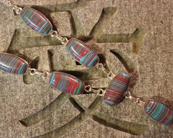 Mosaic jasper necklace