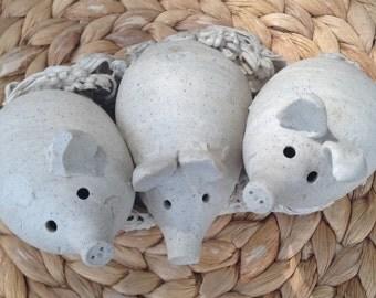 Vintage Janet Slade Pottery - Three Pigs