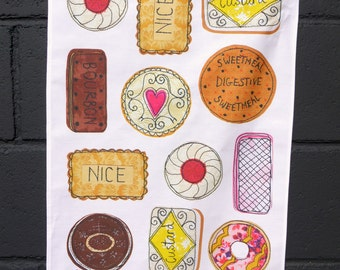 Tea towel- Biscuits design