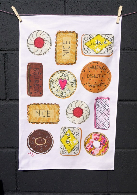 Tea towel- Biscuits design