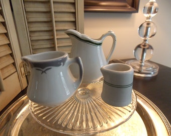 Vintage Restaurant Ware Creamers, Trio of Creamers in Graduated Sizes