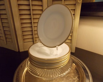 Bread & Butter PLATES, SET of 6 Thomas Sevres Bavaria Dishes, Set of Six China Servingware