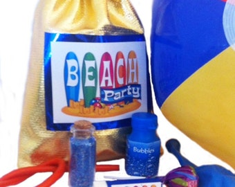 Beach Party Bag with 8 great items inside