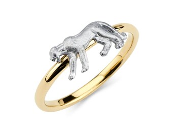 14K Two-Tone Gold Panther Ring, Panther Ring, Panther Jewelry, Gold Panther, Gold Ring, Gold Jewelry, Two-Tone Panther, Panther, Ring