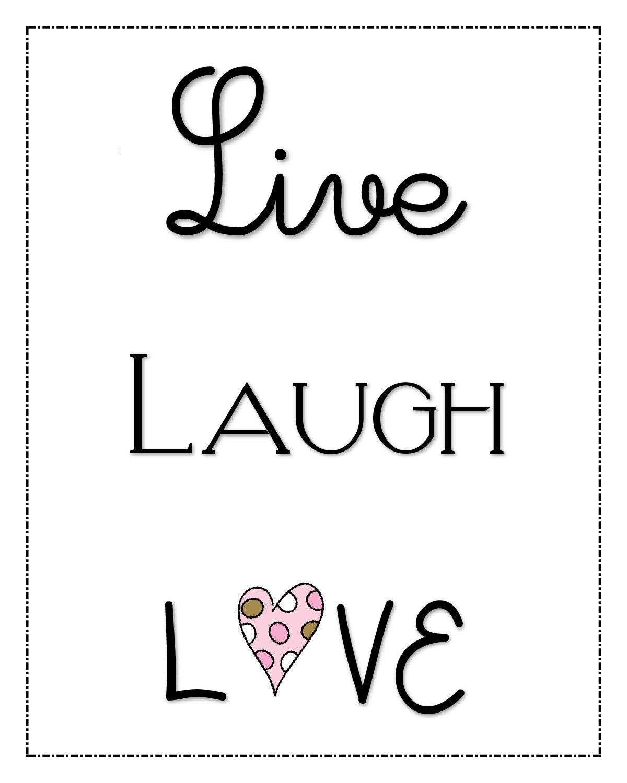 Download Printable Poster DIY LIVE LAUGH, Love - Inspirational ...