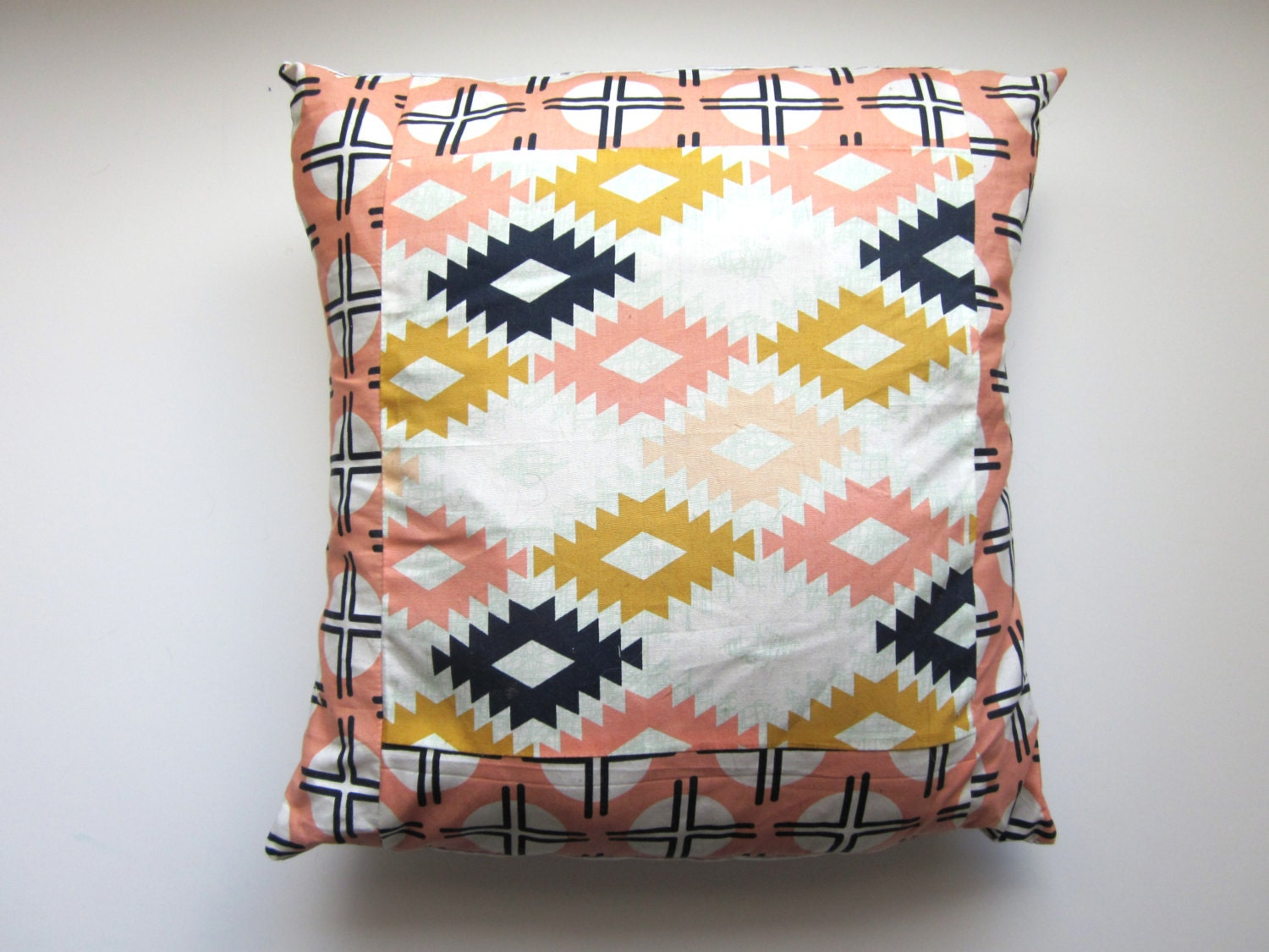 Southwestern Pillow Shams : Southwestern Style Pillow Sham 12 x 12 by Emilyruthdesigns on Etsy