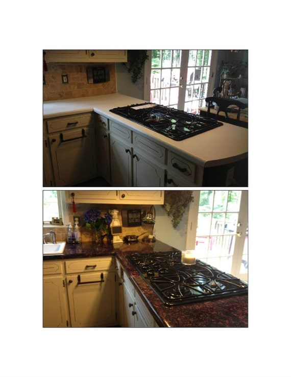 Instant Counter Top Cover : Instant vinyl counter top faux granite cover by