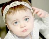 lace baby headband, baby lace headband, newborn lace headband, adult lace headband, gold lace headband
