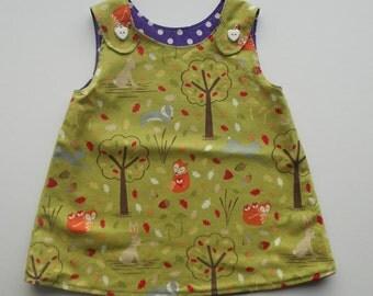 Girls Reversible A-Line dress 0-3 months