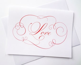 Elegant Love Greeting Card