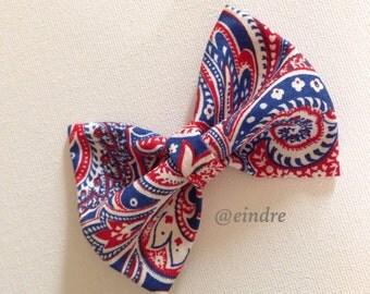 Mini Paisley Hair Bow