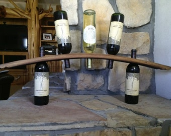 SALE 5 bottle stave wine rack