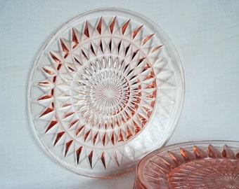 Pink Depression-Windsor Plate-1930s