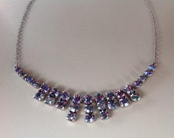1950s Stunning Aurora Borealis Vintage Necklace