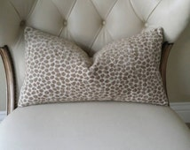 Animal Print Chenille Lumbar Pillow Cover