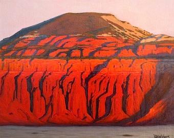 Utah - 'Capitol Reef-Torrey Glow' - original landscape painting - impressionist - sunset - red rocks - Southwestern - contemporary wall art