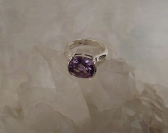 Sterling Silver Estate Amethyst ring, size 8
