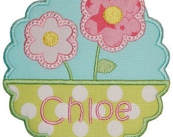 SAMPLE SALE - Baby Girl Personalized Outfit - Personalized Summer Shirt - Baby Girl Flower Outfit