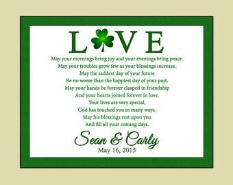 Personalized Irish Wedding Plaque