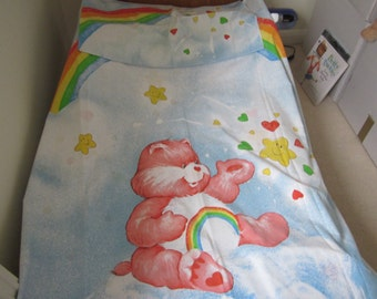Vintage Care Bear Single Twin Duvet Cover And Pillowcase. Childrens  Girls Nursery,  80's Project Fabric.