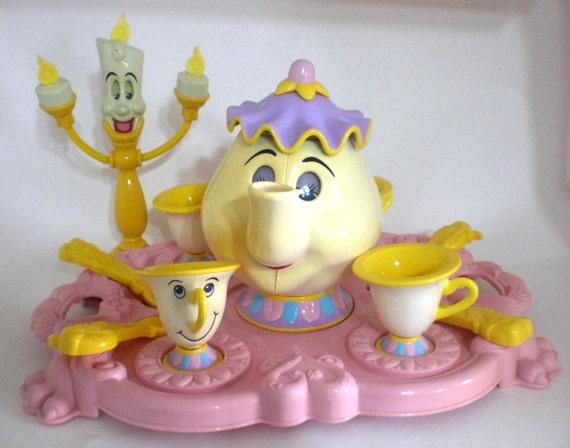 Vintage Beauty And The Beast Tea Set Mrs Potts Chip