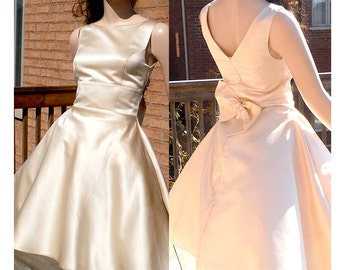 Ivory bridesmaid dress, rustic bridesmaid dress, 1950s rockabilly dress