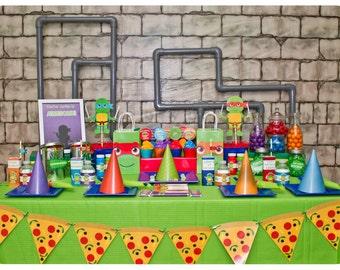 Teenage Mutant Ninja Turtle Party; TMNT Party; Ninja Turtle Birthday Party Printed, Cut, and Shipped to you! TMNT Party ideas; Ninja Turtles