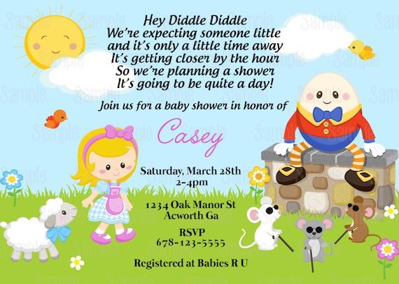 Printable nursery rhyme mother goose baby shower invitation plus il570xn filmwisefo