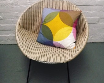 Vintage fabric cushion