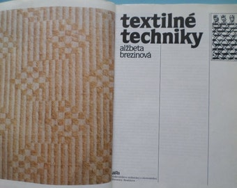 Textile techniques- Vintage  book 1987 -  Made in