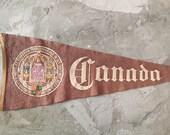 Large Vintage Canada Pennant Flag