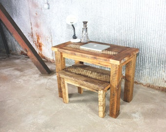 Reclaimed Wood Rustic Timber Desk