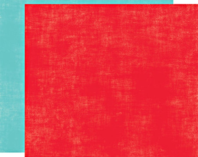 2 Sheets of Echo Park Paper PLAYGROUND 12x12 Scrapbook Paper - Rubber Ball/Splash (Blue and Red)