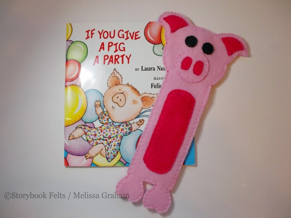 Animal Bookmark Pig Book Buddy Animal Bookmark Finished Item Can Be Personalized