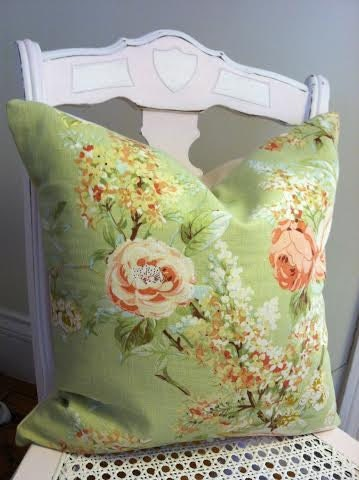 Shabby Chic Roses Flower Pillow English Garden Downtown Abbey