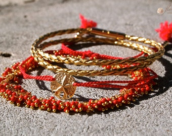 Red Coral Bracelet Mix
