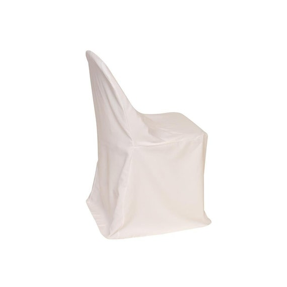 Polyester Folding Chair Cover White Wedding Chair Covers