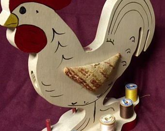 Vintage Sewing - Thread Holder - Rooster - Hand Made
