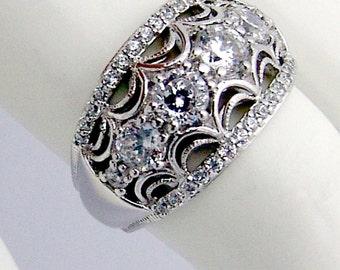 Statement Ring Zirconium Sterling Silver