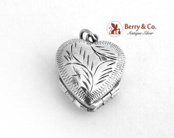 Heart Shape Double Locket Sterling Silver