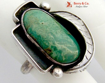 Navajo Ring Turquoise Sterling Silver