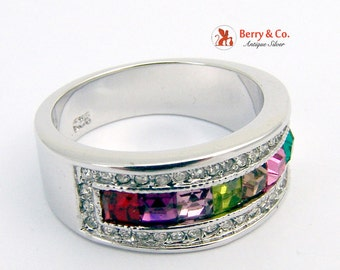 Colorful Ring Sterling Silver