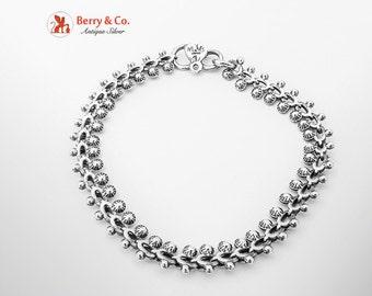 Ornate Chain Bracelet Sterling Silver 1980