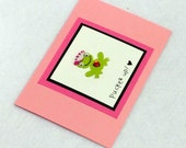 Pucker Up Valentine's Day Frog Prince or Princess Card with envelope