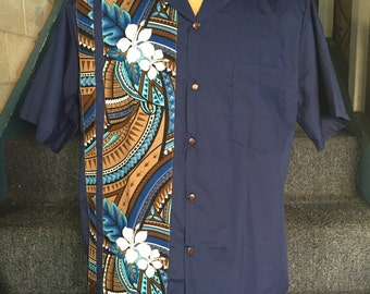 Men's Polynesian Tribal Shirt. Made in Hawaii.