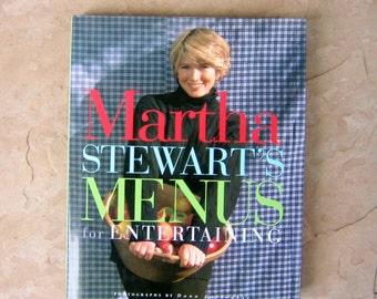 Martha Stewart's Menus for Entertaining, Martha Stewart Cookbook, Entertaining Book, 1994 Vintage Cookbook