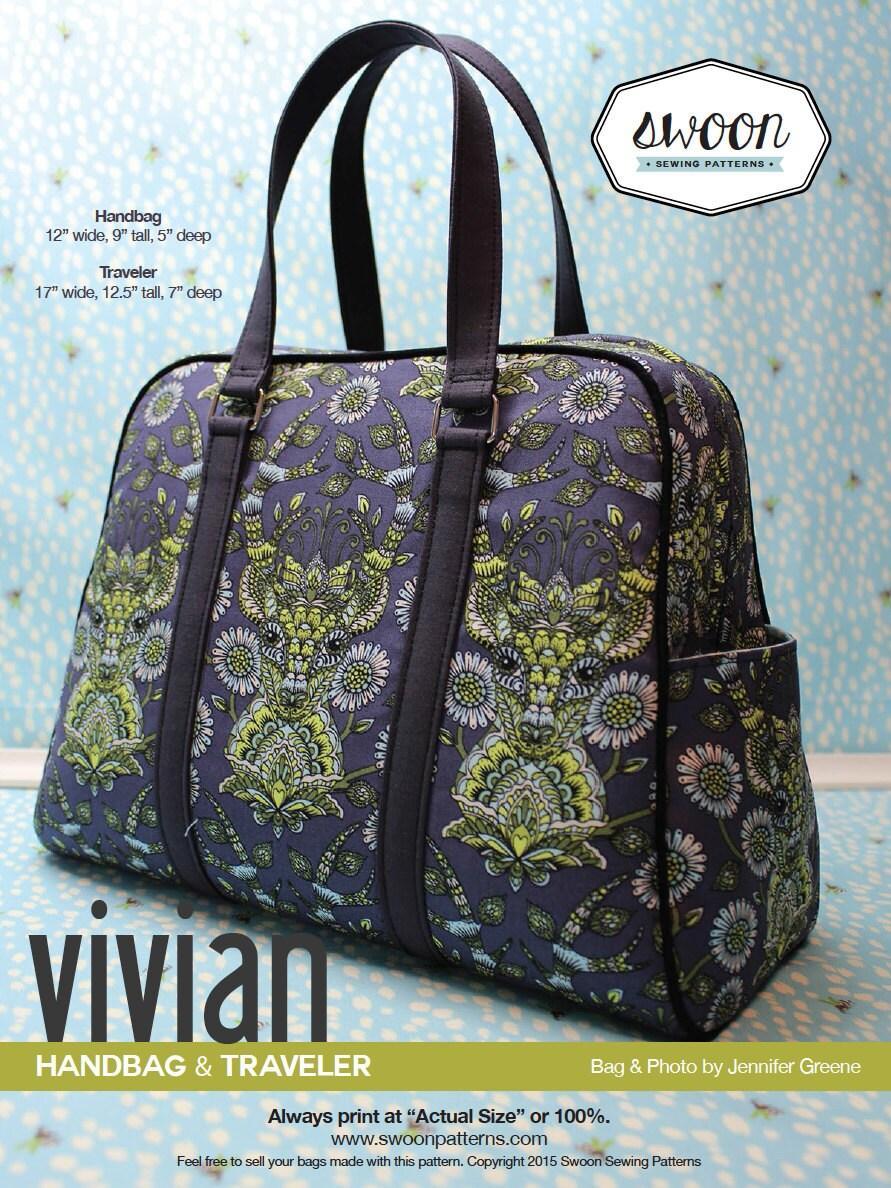 Swoon Patterns Vivian Handbag Amp Traveler Pdf Bag Purse