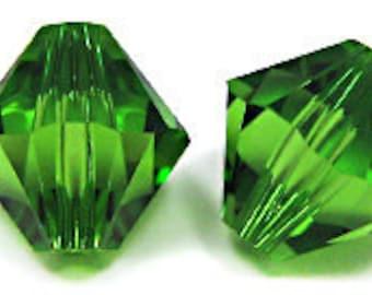 Fern Green~6 mm Xillion Bicone (5328) Genuine Swarovski crystals. you choose size.