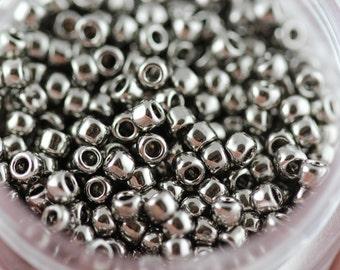 TOHO Seed Bead 11/0 ~ Nickel ~ 8 grams  (TR-11-711) N-21