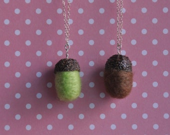 Sterling Silver Acorn Necklace *Real Acorn Cap*